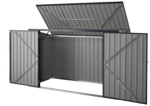 KONIFERA Mülltonnenbox Polly B für 2x240l aus Metall BxTxH:172x100x131cm B10549229 UVP 199,99€ | 10549229 3
