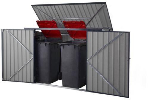 KONIFERA Mülltonnenbox Polly B für 2x240l aus Metall BxTxH:172x100x131cm B10549229 UVP 199,99€ | 10549229 4