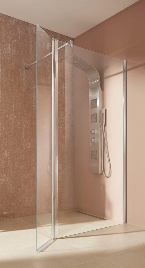 welltime Walk-in-Dusche Mailand Einscheibensicherheitsglas Breite 100cm B11271353 ehemalige UVP 239,99€ | 11271353 1