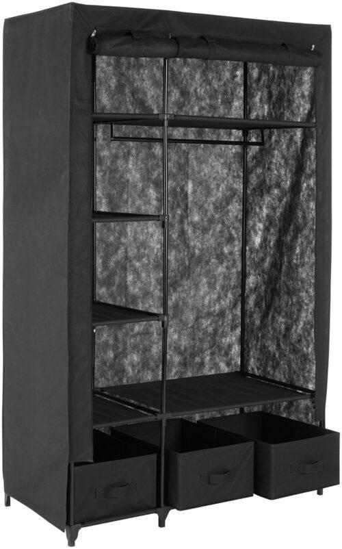 Kleiderschrank aus Vlies Breite 110cm acht Ablagen als Stauraum & Garderobenstang B11768619 UVP 64,99€ | 11768619 2