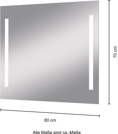 welltime Badspiegel Miami Badmöbel Breite 80cm LED-Spiegel B12685205 UVP 109,99€ | 12685205 6