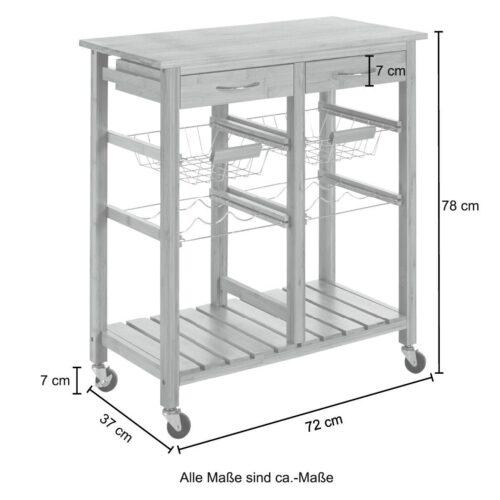 Küchenwagen Bambus (1 St) 72x37x78cm B13290325 UVP 92,99€ | 13290325 6