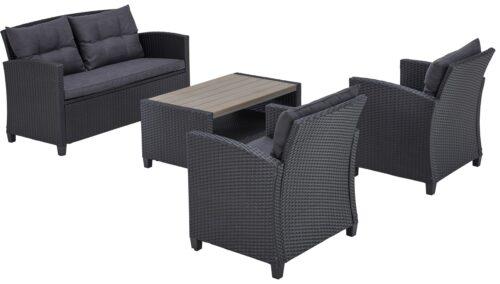 KONIFERA Gartenmöbelset St. Tropez (11-St) 2er Sofa 2 Sessel Tisch 9x55cm Polyrattan B17134362 UVP 429,99€ | 17134362 2