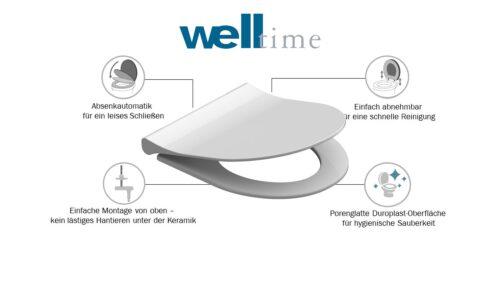 welltime WC-Sitz mit Absenkautomatik weiß abnehmbar B18356625 ehemalige UVP 54,99€ | 18356625 5