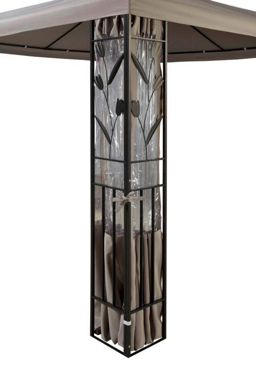 KONIFERA Pavillonseitenteile mit 2 Seitenteilen Pavillon Modern & Tulip 300x300cm B18780203 UVP 39,99€ | 18780203 3