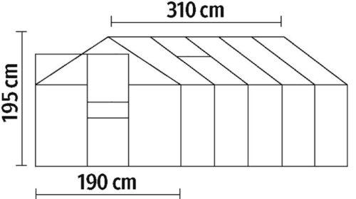 KONIFERA Gewächshaus Florenz BxTxH:190x310x195cm B19001023 UVP 360,66€   19001023 1