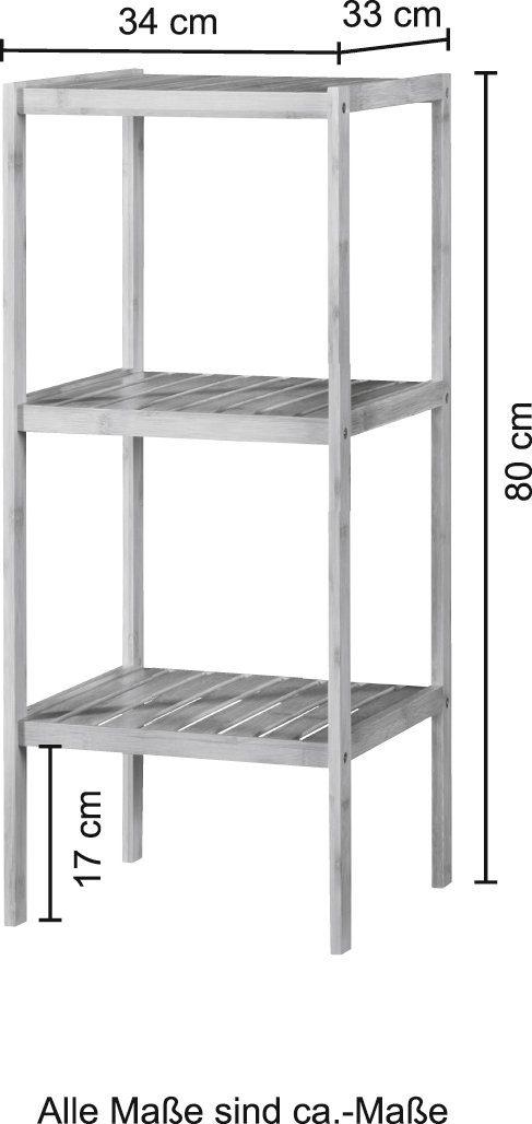 welltime Badregal Bambus Breite 34cm 3 Ablagen B20858229 UVP | 20858229 4