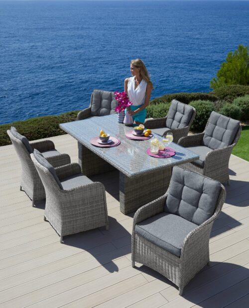 KONIFERA Gartenmöbelset Menorca 19-tlg. 6 Sessel Tisch 200x100cm B21580347 ehemalige UVP 999,99€ | 215 10