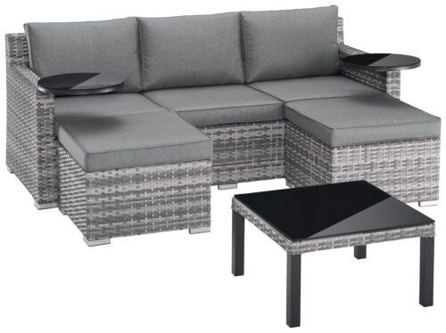 KONIFERA Loungeset Ibiza B Ware!! Gartenmöbel Polyrattan/Alu BB22397320 UVP 599,99€ | 22397320 1