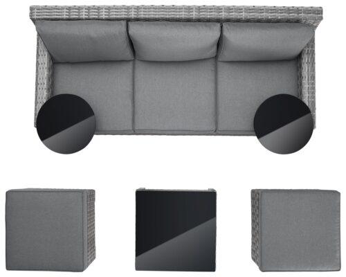 KONIFERA Loungeset Ibiza B Ware!! Gartenmöbel Polyrattan/Alu BB22397320 UVP 599,99€ | 22397320 12