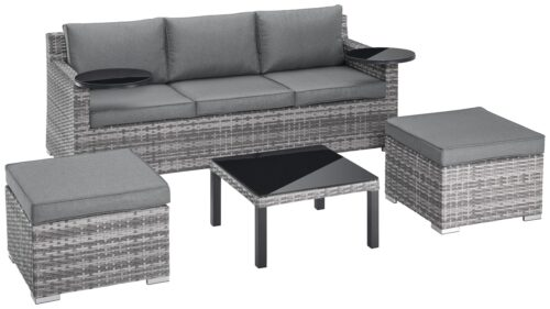 KONIFERA Loungeset Ibiza B Ware!! Gartenmöbel Polyrattan/Alu BB22397320 UVP 599,99€ | 22397320 2