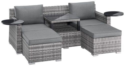 KONIFERA Loungeset Ibiza B Ware!! Gartenmöbel Polyrattan/Alu BB22397320 UVP 599,99€ | 22397320 3