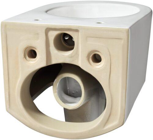 welltime Tiefspül-WC New Trento Toilette ohne Sitz spülrandlos Tiefspüler B24654320 UVP 149,99€   24654320 5
