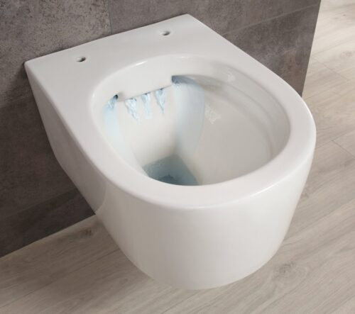 welltime Tiefspül-WC New Trento Toilette ohne Sitz spülrandlos Tiefspüler B24654320 UVP 149,99€   24654320 6