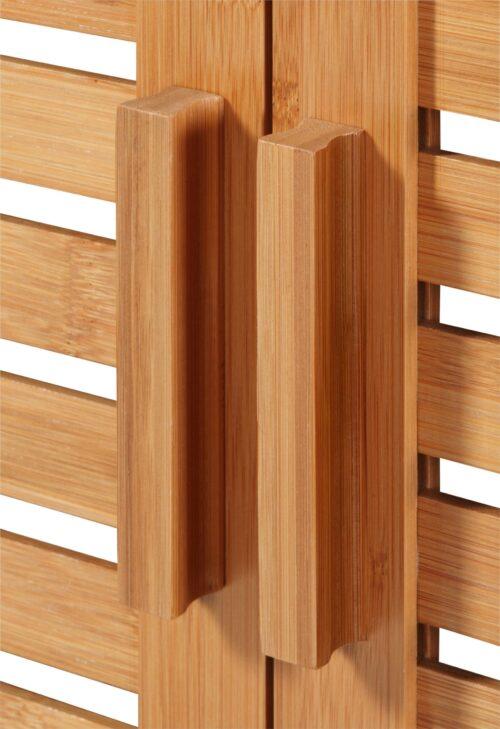 welltime Waschbeckenunterschrank Bambus Badmöbel mit Siphonausschnitt Breite 67cm B25220522 UVP 99,99€ | 25220522 4