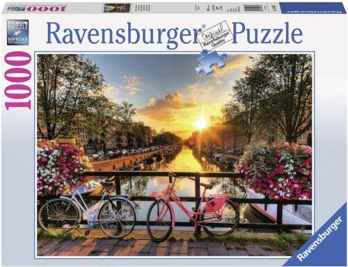 Ravensburger Puzzle Fahrräder in Amsterdam 1000 Puzzleteile Made in Germany FSC®-schützt Wald-weltweit B263426 UVP 13,99€ | 263426 1