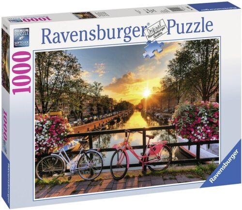 Ravensburger Puzzle Fahrräder in Amsterdam 1000 Puzzleteile Made in Germany FSC®-schützt Wald-weltweit B263426 UVP 13,99€ | 263426 2
