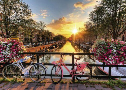 Ravensburger Puzzle Fahrräder in Amsterdam 1000 Puzzleteile Made in Germany FSC®-schützt Wald-weltweit B263426 UVP 13,99€ | 263426 3