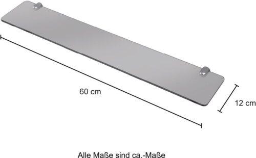 WELLTIME Wandablage Glasablage/Glasregal Breite 60cm B27087000 ehemalige UVP 29,99€ | 27087000 4