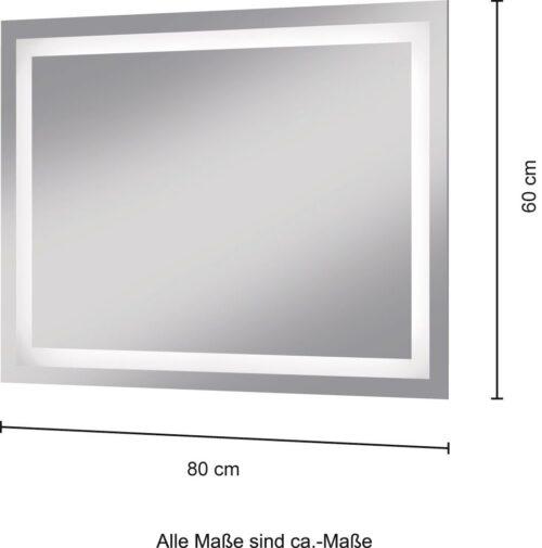 welltime Badspiegel Trento LED-Spiegel 80x60cm B27991209 UVP 149,99€ | 27991209 5