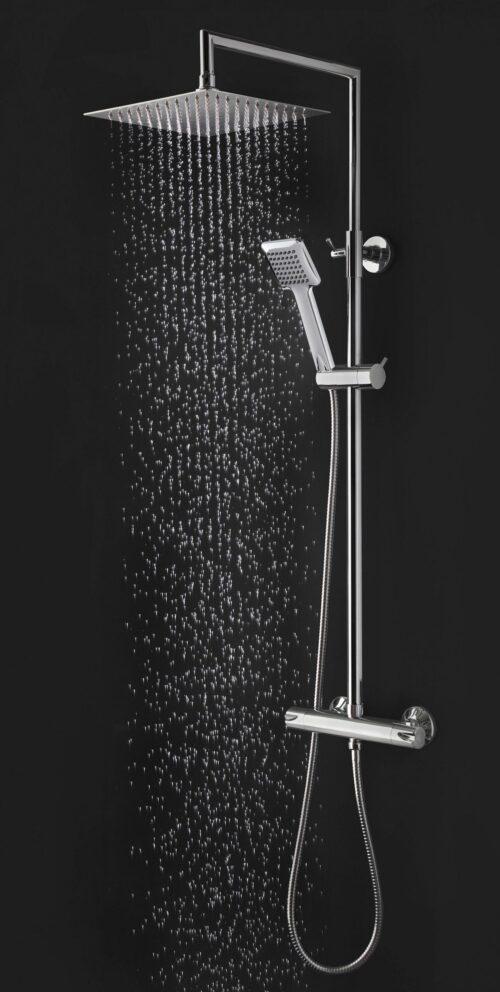 welltime Brausegarnitur Raindrop Höhe 83cm 1 Strahlart(en) höhenverstellbare Überkopfbrause B28078439 UVP 149,99€ | 28078439 2