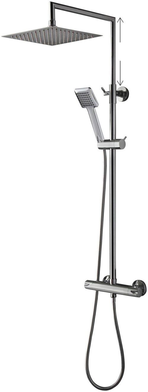 welltime Brausegarnitur Raindrop Höhe 83cm 1 Strahlart(en) höhenverstellbare Überkopfbrause B28078439 UVP 149,99€ | 28078439 7