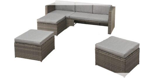 KONIFERA Loungeset Lagos Premium 3er-Sofa 3 Hocker B28364946 ohne Tisch | 28364946 0