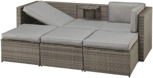 KONIFERA Loungeset Lagos Premium 3er-Sofa 3 Hocker B28364946 ohne Tisch | 28364946 2