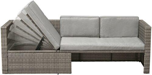 KONIFERA Loungeset Lagos Premium 3er-Sofa 3 Hocker B28364946 ohne Tisch | 28364946 3