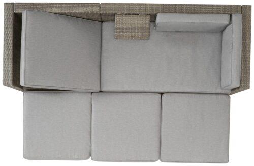 KONIFERA Loungeset Lagos Premium 3er-Sofa 3 Hocker B28364946 ohne Tisch | 28364946 9