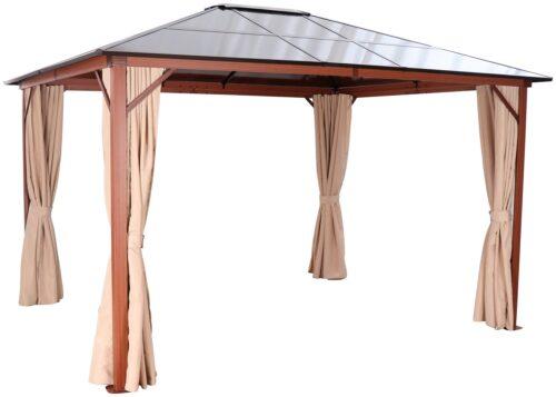 KONIFERA Pavillon Holzoptik mit 4 Seitenteilen BxT:300x365cm B28620052 UVP 629,99€ | 28620052 1