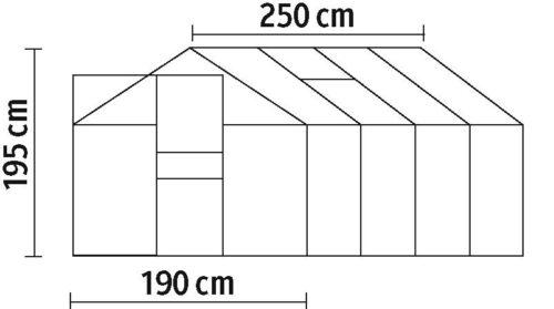 KONIFERA Gewächshaus BxTxH:190x250x195cm 6mm Wandstärke B783399/31454905 ehemalige UVP 379,99€   31454905 8