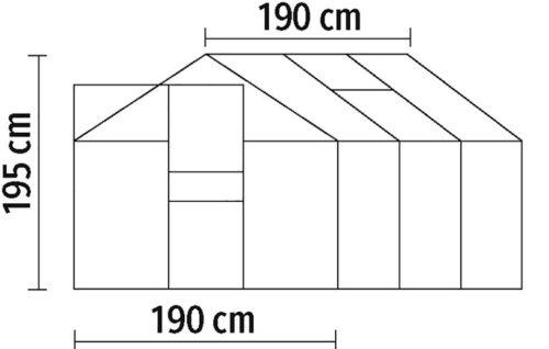 KONIFERA Gewächshaus Florenz BxTxH: 190x190x195cm 4mm B31487540 UVP 229,99€   31487540 9
