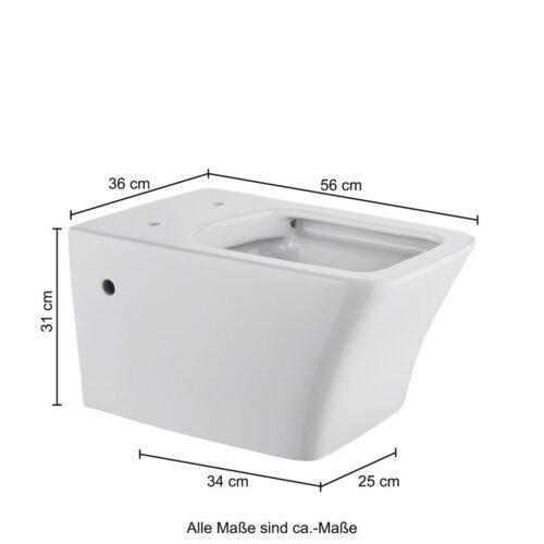welltime Tiefspül-WC Trento Spülrandloses inkl. WC-Sitz Softclose B31765151 ehemalige UVP 199,99€ | 31765151 12