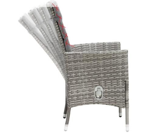 KONIFERA Gartenmöbelset Belluno 4 Sessel ohne Polster B32988323OP   32988323 ohne Polster
