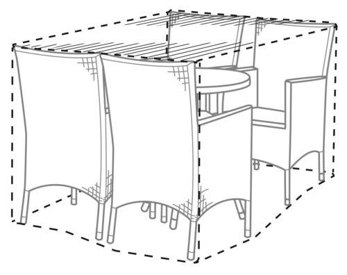 KONIFERA Gartenmöbel-Schutzhülle Mailand/Santiago für Gartenmöbel 172x118x89cm B334786 UVP 39,99€ | 334786 2