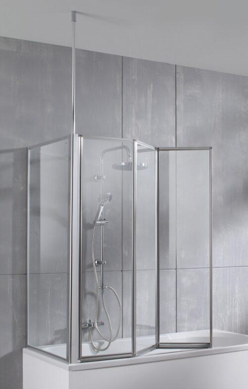 welltime Badewannenaufsatz Summer 3-teilig+feste Seitenwand Einscheibensicherheitsglas B34643869 UVP 249,99€ | 34643869 2