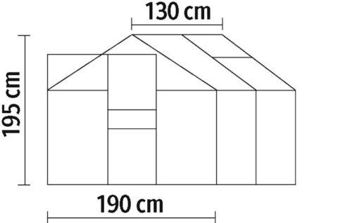 KONIFERA Gewächshaus Florenz BxTxH:190x130x195cm B35357807 ehemalige UVP 199,99€ | 35357807 7