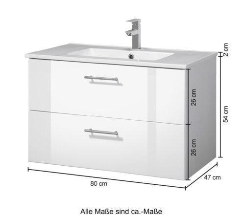 welltime Waschtisch Trento Badmöbel in Breite 80cm B37079410 UVP 279,99€ | 37079410 5jpg