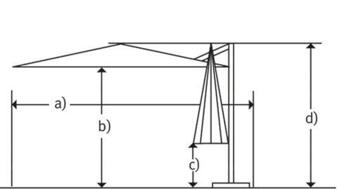 Schneider Schirme Ampelschirm Rhodos Junior ohne Wegeplatten | 37881627 12