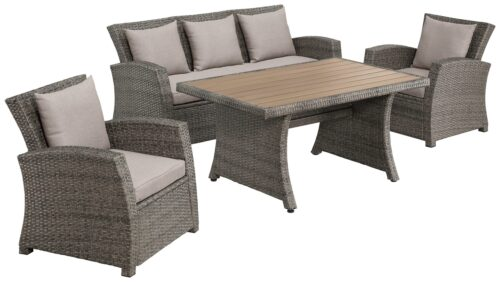 KONIFERA Loungeset Siros 12-tlg. 3-er Sofa 2 Sessel Tisch 135x82cm B38221452 UVP 699,99€ | 38221452 1
