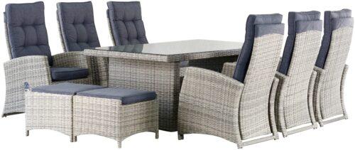 KONIFERA Gartenmöbelset Monaco 17-tlg. 6 Sessel 2 Hocker Tisch B39806415 ehemalige UVP 1.499,99€ | 398 2