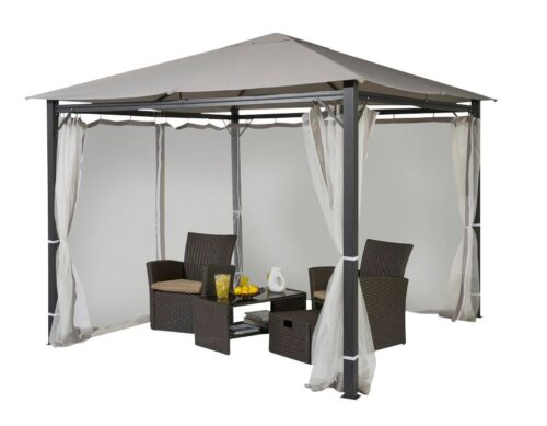KONIFERA Pavillon Elba 3x3m ohne Seitenteile ohne Moskitonetz B41213319 UVP 249,99€ | 41213319 1