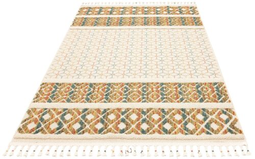 Teppich Arian Home affaire rechteckig Höhe 18mm mit Fransen Wohnzimmer B41443228 UVP 29,99€ | 41443228 1