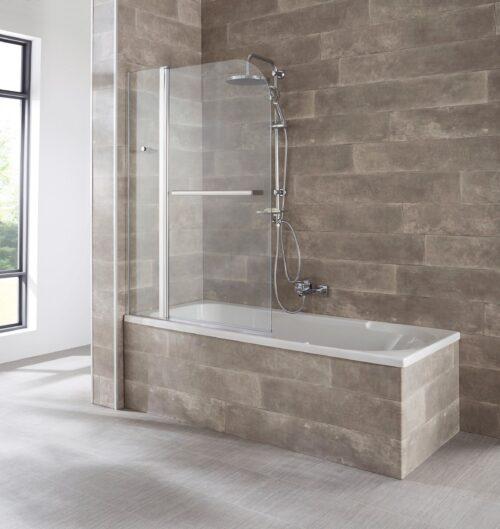 welltime Badewannenaufsatz Mataro Einscheibensicherheitsglas BxH:100x140cm B44328650 ehemalige UVP 134,99€ | 44328650 1