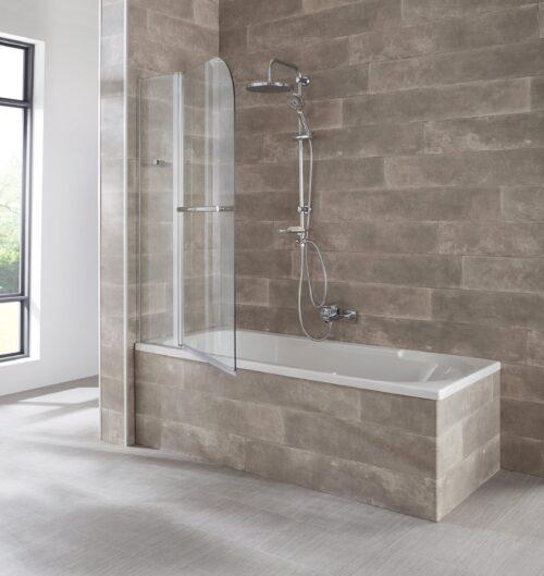 welltime Badewannenaufsatz Mataro Einscheibensicherheitsglas BxH:100x140cm B44328650 ehemalige UVP 134,99€ | 44328650 2