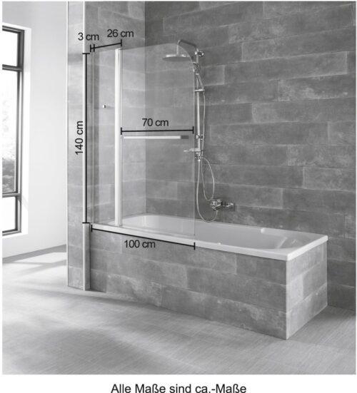 welltime Badewannenaufsatz Mataro Einscheibensicherheitsglas BxH:100x140cm B44328650 ehemalige UVP 134,99€ | 44328650 7