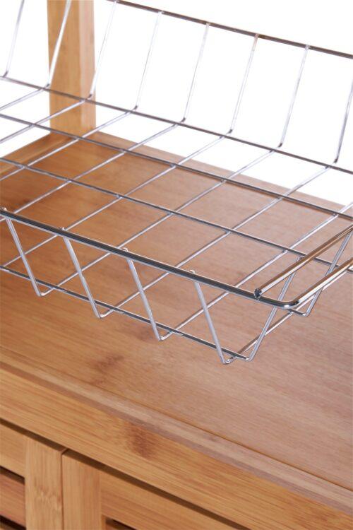 Küchenwagen Servierwagen Bambus B46010847 ehemalige UVP 99,99€ | 46010847 4