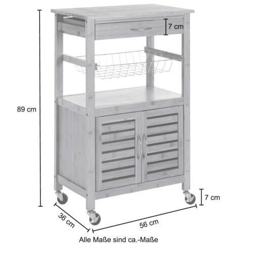 Küchenwagen Servierwagen Bambus B46010847 ehemalige UVP 99,99€ | 46010847 7