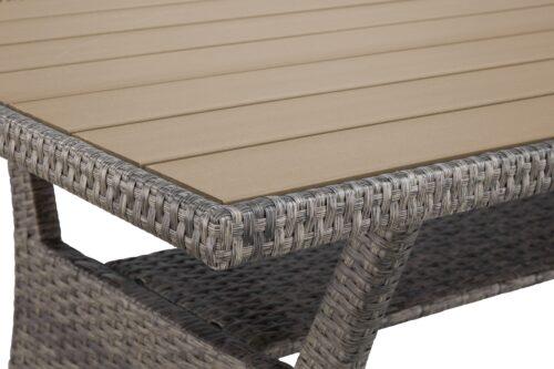 KONIFERA Loungeset Keros Premium Ecklounge 2 Hocker Sessel Tisch 145x75cm Polyrattan B46059830 UVP 799,99€ | 46059830 11